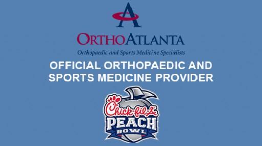 OrthoAtlanta Orthopedics and Sports Medicine Specialists Sponsor Chick-fil-A Peach Bowl on December 31, 2016