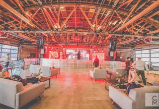 City Market Social House - Studio 14 Warehouse Stage Setup