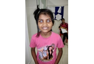 A young girl in need is given the gift of sight after CEM