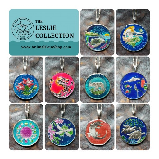 AnimalCoin Releases the Leslie Collection, Featuring Artist-Painted Coin Jewelry
