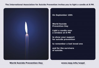 Light a Candle for World Suicide Prevention Day