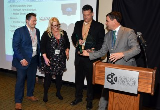 Future Energy Group and McLaren Health Care accepts Project of the Year Award from Consumers Energy