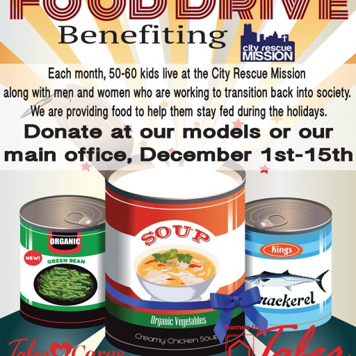 Homes by Taber Launches Food Drive to Benefit City Rescue Mission