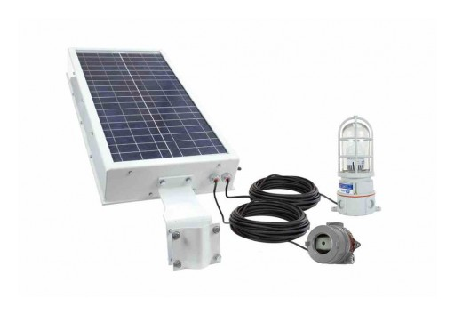 Larson Electronics Releases 10W Solar LED Infrared Strobe Light, 30Hz Strobe Rate, 40aH Battery Pack
