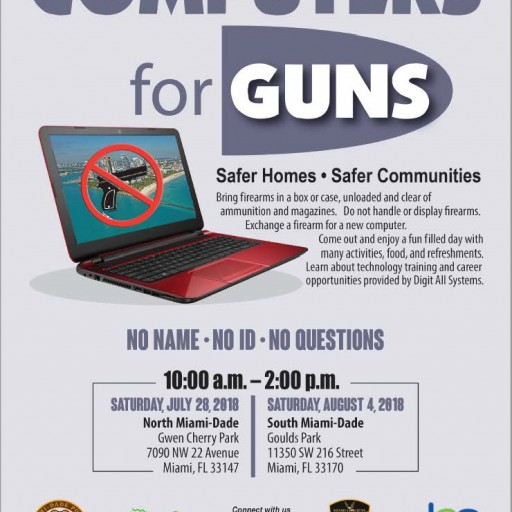 Computers for Guns Exchange in Miami
