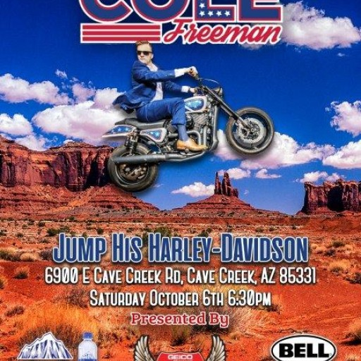 Cole Freeman Will Fly Through the Sky Over Northern Chill Naturally Alkaline Water at the Geico Hot Bike Tour in Arizona Oct. 6th