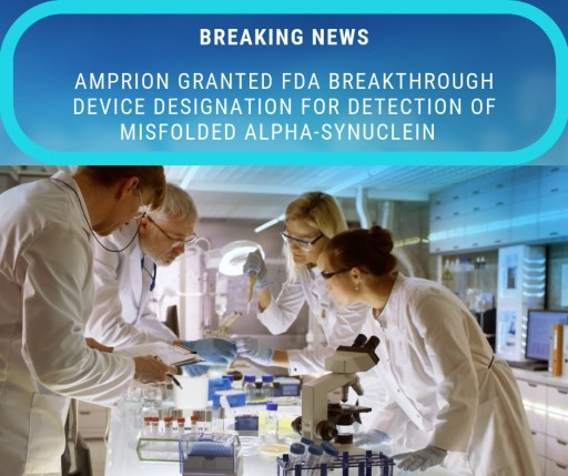 Amprion Joins the Fight Against Parkinson's Through Early Detection Testing