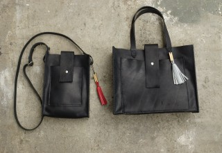 Common Fibers and Sweet Butter Leather Tote and Cross-Body Purses