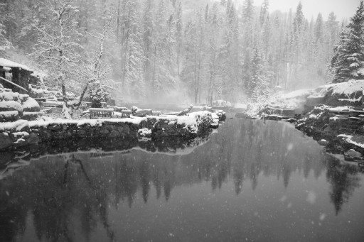 Strawberry Park Hot Springs - winter, Steamboat Springs