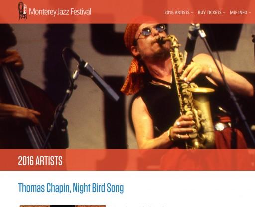 Monterey Jazz Festival 2016 Brings the Late Thomas Chapin Full Circle