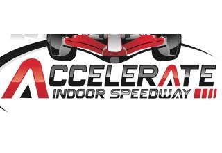 Accelerate Indoor Speedway Logo