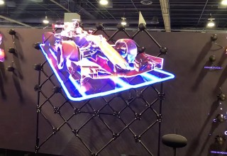 Holographic Hypervsn Wall Uses Blended Matrix For Creative Displays