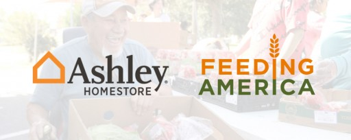 Ashley HomeStore Teams Up to Fight Hunger with Feeding America Providing Over 4.4 Million Meals Nationwide