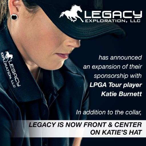 Legacy Exploration, LLC Announces Hat Sponsorship of LPGA Player, Katie Burnett