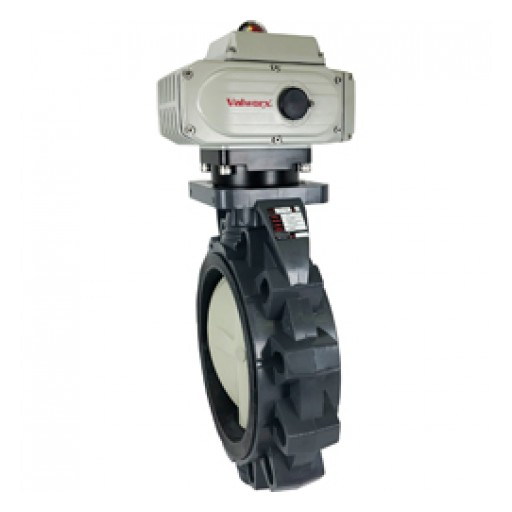 Valworx Introduces New Product Line: Extended Sizes of Actuated PVC Butterfly Valve