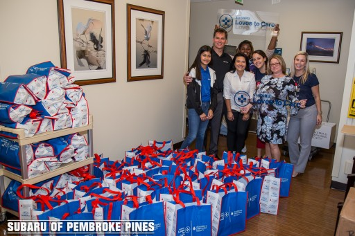 Subaru of Pembroke Pines Teams Up With the Leukemia & Lymphoma Society for the Third Consecutive Year to Spread  Love, Hope, and Warmth to Cancer Patients and Their Families