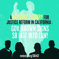 California reforms felony murder rule in 160-year-old historic victory