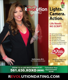 Set up an appointment with Kelly Leary and her team at Revolution Dating. Call 561-630-9696.