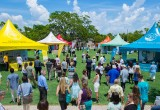 Last year's grand opening of the Scientology Information Center and six humanitarian pavilions to be celebrated July 15 with a block party in downtown Clearwater.