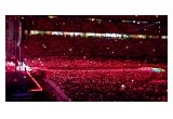 Coldplay creates a sea of red lights using light-up wristbands