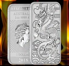 2018 1 oz. silver australian dragon coin