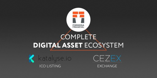 Formosa Financial Announces Merger With CEZEX and Katalyse.io to Create a Complete Digital Asset Ecosystem