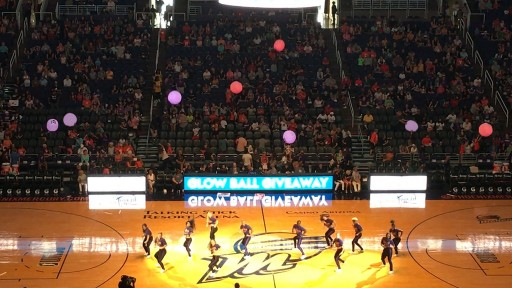 Dancers Use Light-Up Xylo Balls From Xylobands USA Energize an Arizona Lottery Event at the WNBA Phoenix Mercury Arena