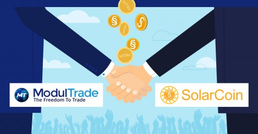 ModulTrade Partners With SolarCoin to Open for Its Large Community MT Market and MT Wallet Functionality