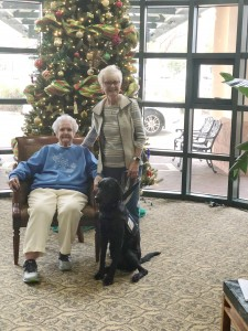 """Flora """"Flo"""" Mullins (left) with her daughter Lynette Hegwood are residents at St. Catherine's Village all-inclusive life care community."""
