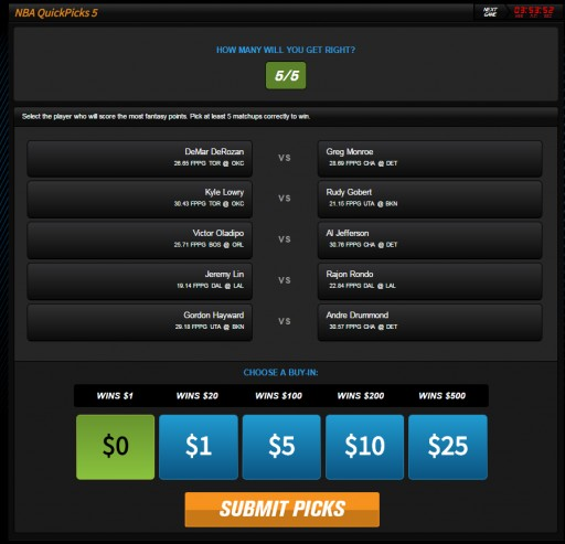 Leading Daily Fantasy Sports Website Announces New Game Types