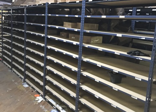 East Coast Storage Equipment Announces Liquidation of Shelving at Publishing Distribution Center