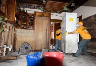 Scientology Volunteer Ministers helped people restore their homes after Hurrican Harvey.