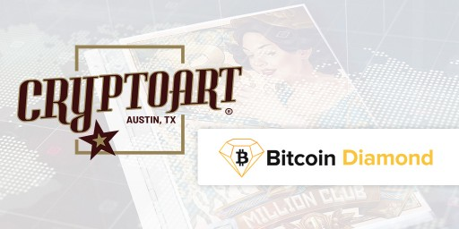 Bitcoin Diamond Supported by Cryptoart as Payment for Limited Edition Artwork