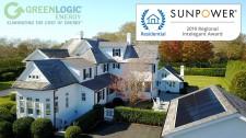 "GreenLogic Wins SunPower's 2019 ""Regional Intelegant"" Award for Southampton Residential Solar Installation"