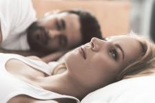 Woman Awake in Bed Can't Sleep