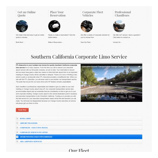 Southern California Limo Company Launches New Corporate Service Website