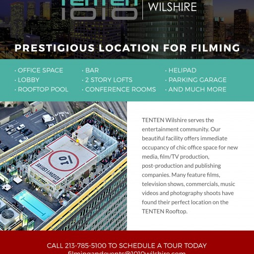 TENTEN Wilshire: A Prestigious Location for Filming