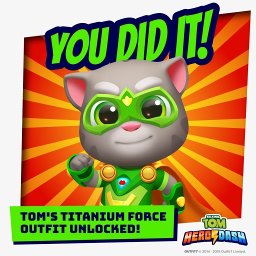 Incredible 4.5 Million Pre-Registrations for Outfit7's Talking Tom Hero Dash Unlocks Free Limited Edition In-App Outfit