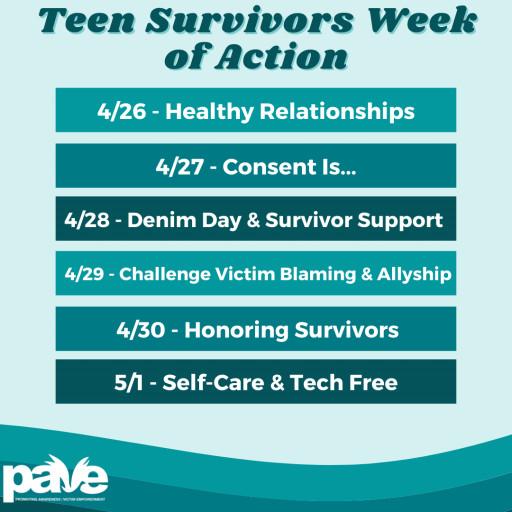 Teen Survivors Week of Action