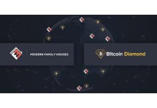 Modern Family Houses Logo and Bitcoin Diamond Logo Worldwide