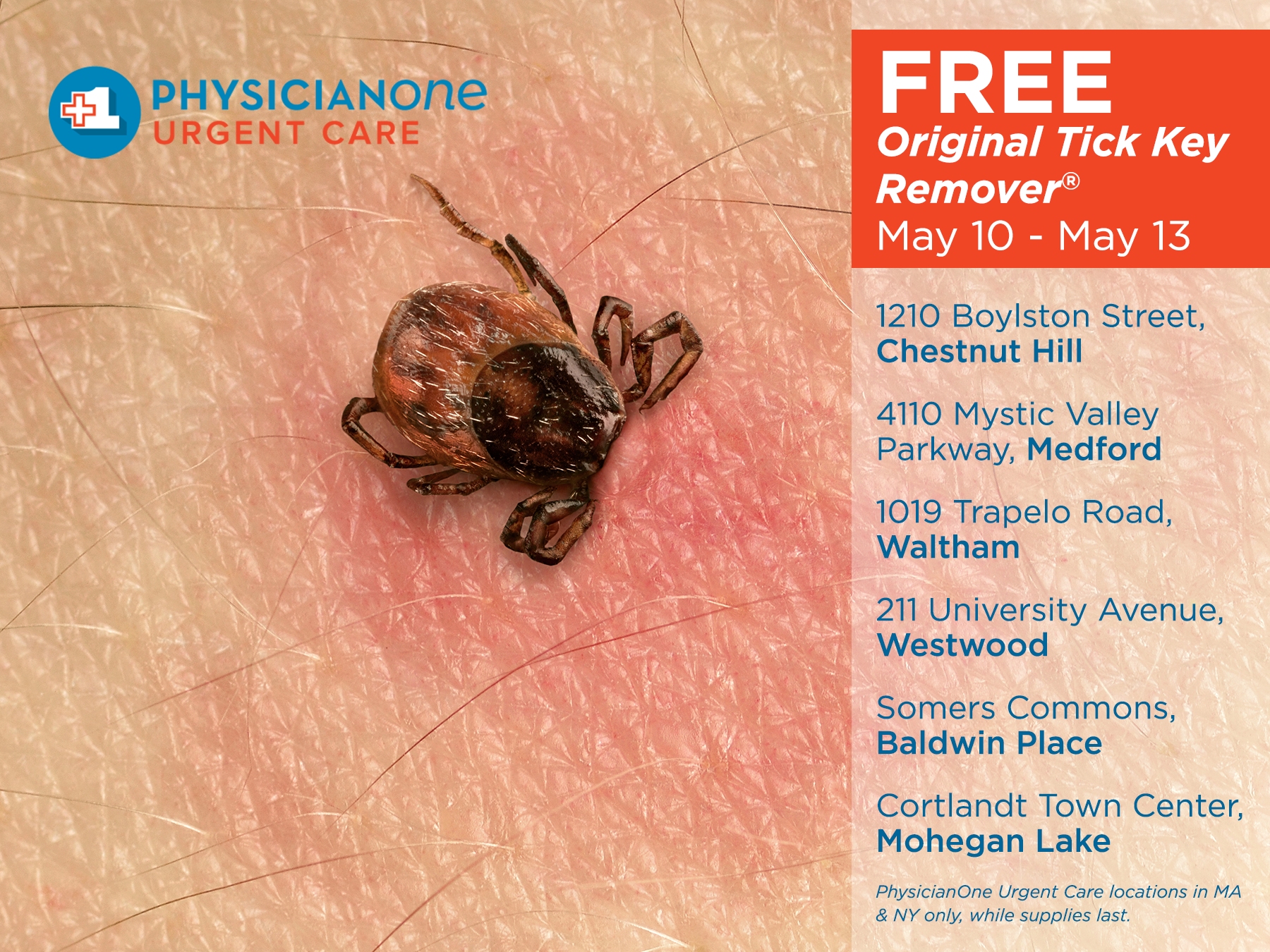 free tick removers in massachusetts and westchester county