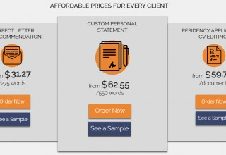 Prices for Residency Personal Statement, LoR and CV Writing