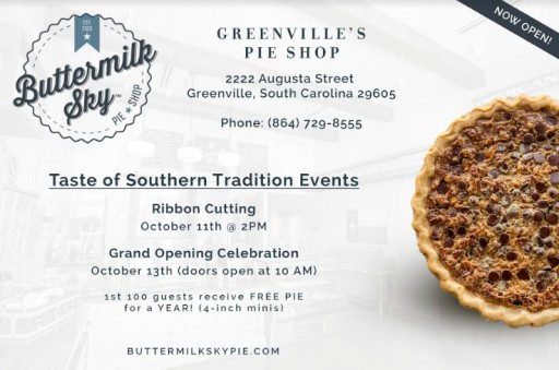 Buttermilk Sky Pie Shop Opens in Greenville, South Carolina