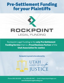 Rockpoint Legal Funding Endorsed by Utah Association of Justice