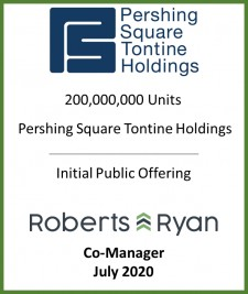 Roberts & Ryan Selected as Co-Manager in Pershing Square Tontine Holdings' (PSTYH.U) IPO