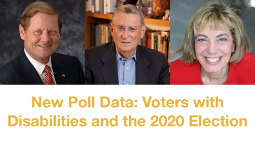New Poll Data About Voters With Disabilities and the 2020 Election to Be Released During Online News Conference at Noon ET, March 19
