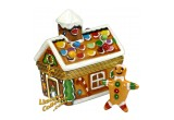 Holiday Gingerbread House with Gingerbread Man Limoges Box | LimogesCollector.com