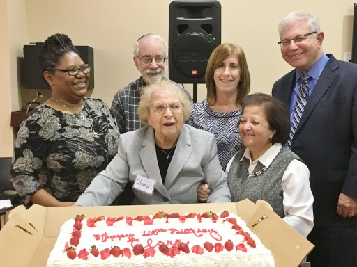 Centenarian Resident of Jewish Federation Plaza Turns Birthday Celebration Into Support for the JCHC