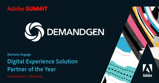 DemandGen Named Adobe 2020 Marketo Engage Digital Experience Solution Partner of the Year  for 2nd Year Running