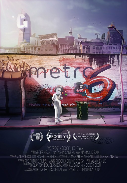 World Premiere of Animated Short, Metro6, Slated for Virtual Brooklyn Film Festival